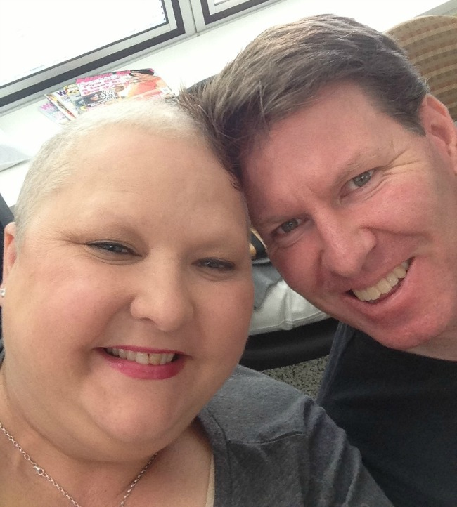 I still had 8 weeks of chemo to go, no brows, lashes, hair and fat...he still loved me.