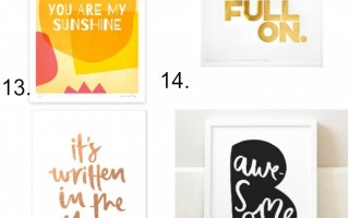 SIXTEEN WALL PRINTS YOU'LL LOVE.
