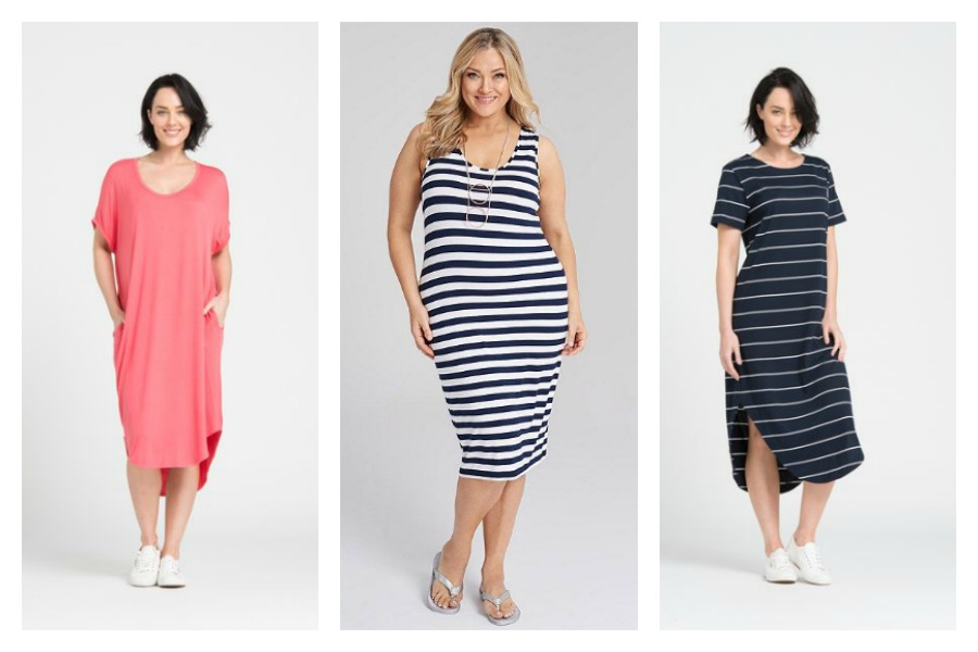 3ac190f5d08f8 A plain colour T shirt dress will be your most versatile one, when you get  braver and want to stretch your fashion wings add one in a stripe or print.