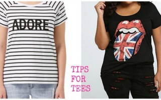 CHOOSE A TEE FOR CURVY AND PLUS SIZE.