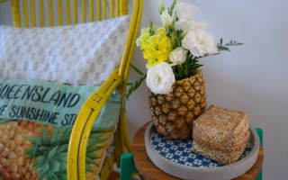 HOW TO MAKE A PINEAPPLE VASE.