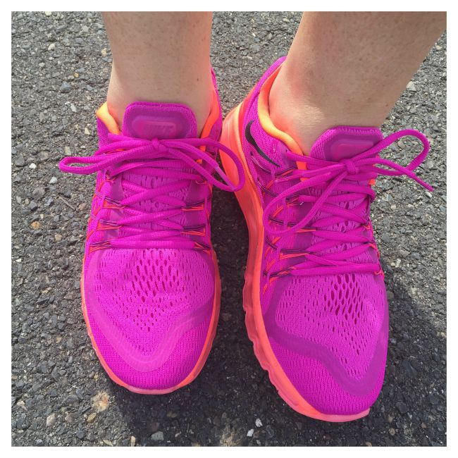 coloured workout shoes