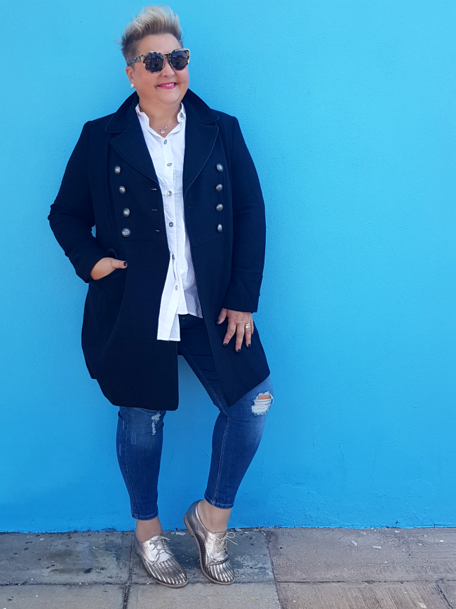 military style winter coat plus size