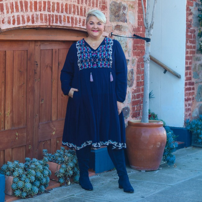 pretty plus size embroidered dress