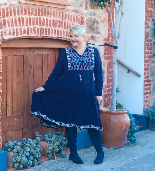plus size embroidered dresses