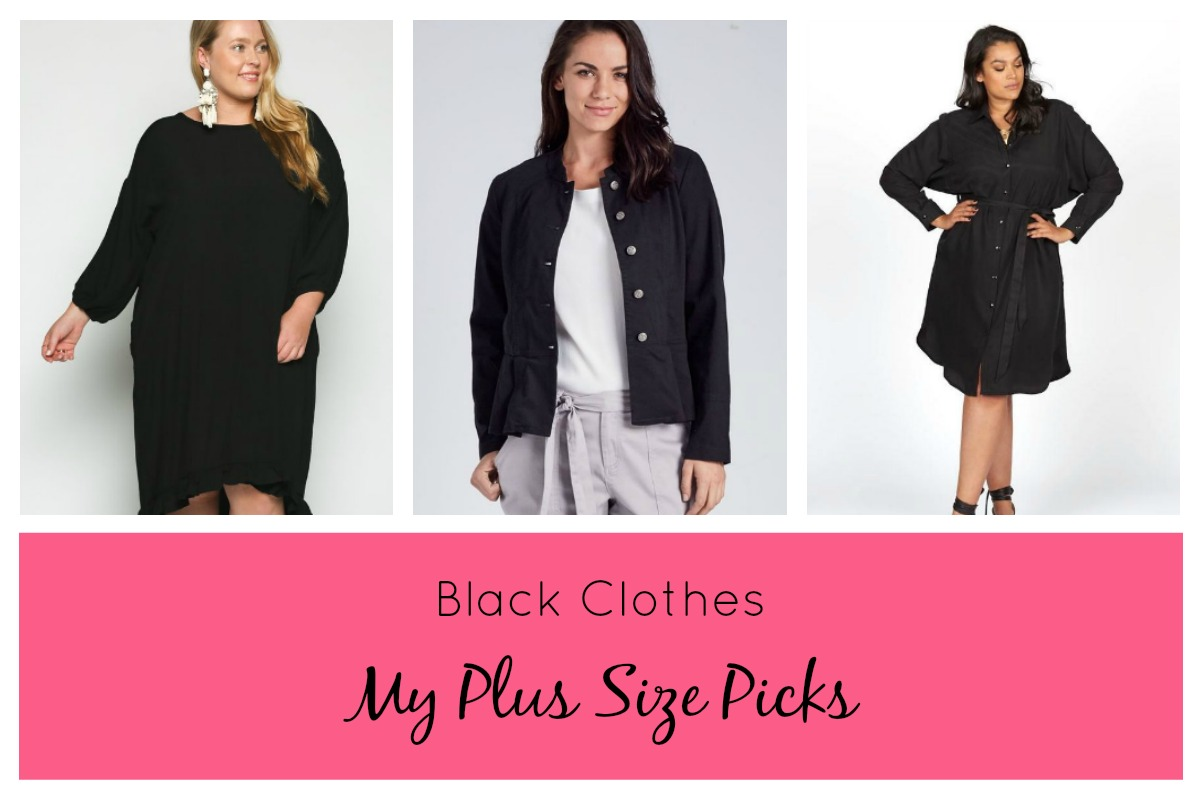 Black Plus Size Clothing Online Australia