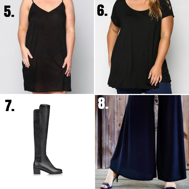 wearing black clothes-styling curvy