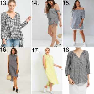 gingham clothing in larger sizes