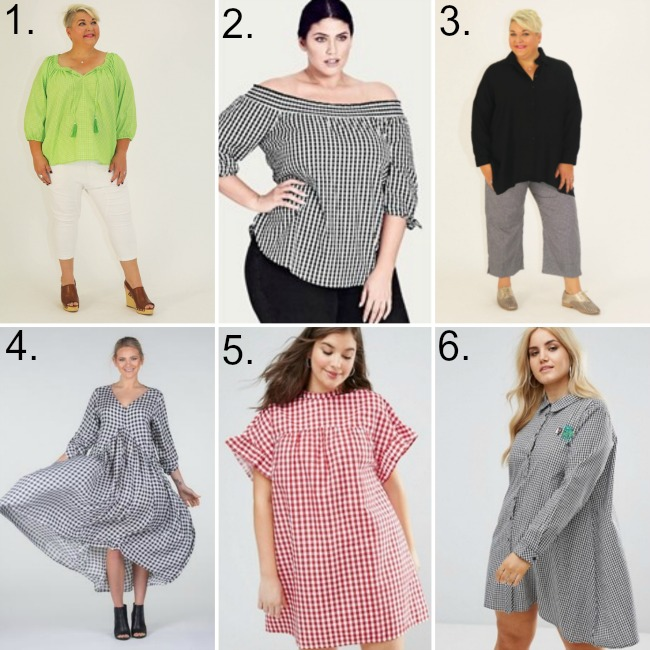 gingham fashion in plus sizes