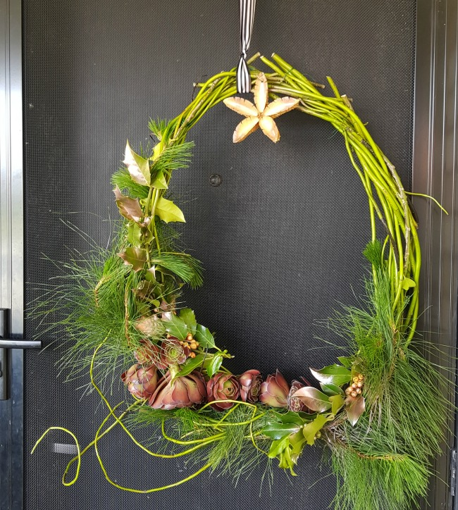 home made wreath