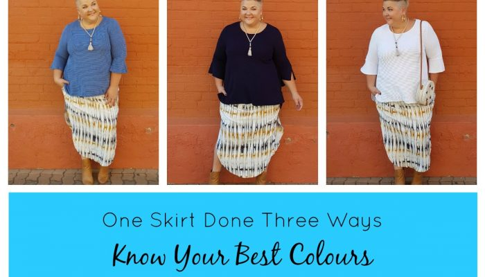 ONE SKIRT DONE THREE WAYS- know your best colours