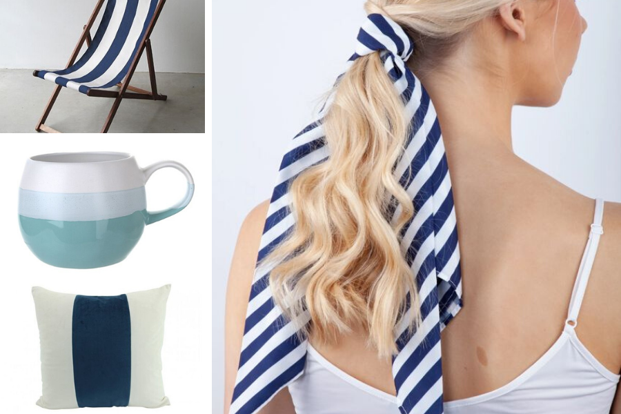 Nautical stripe homewares